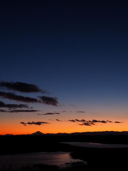 一番星夕景